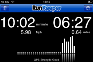 The long 'locked' screen for Runkeeper Pro