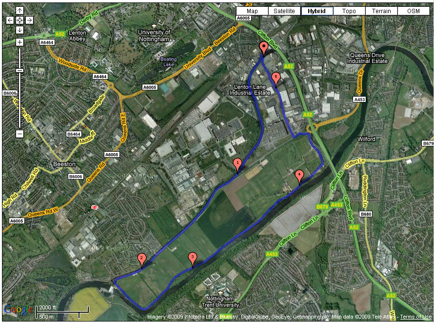 Run Route 4 along beeston canal and the River Trent, Nottingham