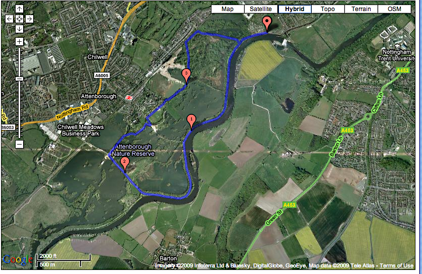 Running Route 5 - Attenborough Nature Reserve and River Trent, Nottingham