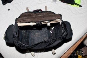 Empty Carradice Barley saddlebag