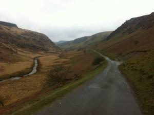 Tregaron Mountain Road approach
