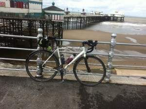 Bike at Blackpool on the 3 coasts audax