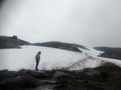 Kjerag snowy ground